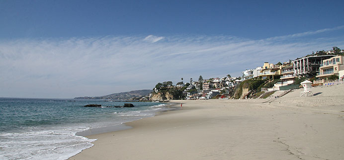 The gated oceanfront neighborhood of Lagunita in Laguna Beach