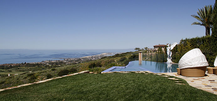 Expansive view of the Pacific from a custom Pelican Crest home in Newport Coast