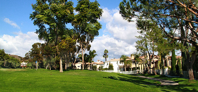 Homes & golf course in guard-gated Marbella in San Juan Capistrano, CA